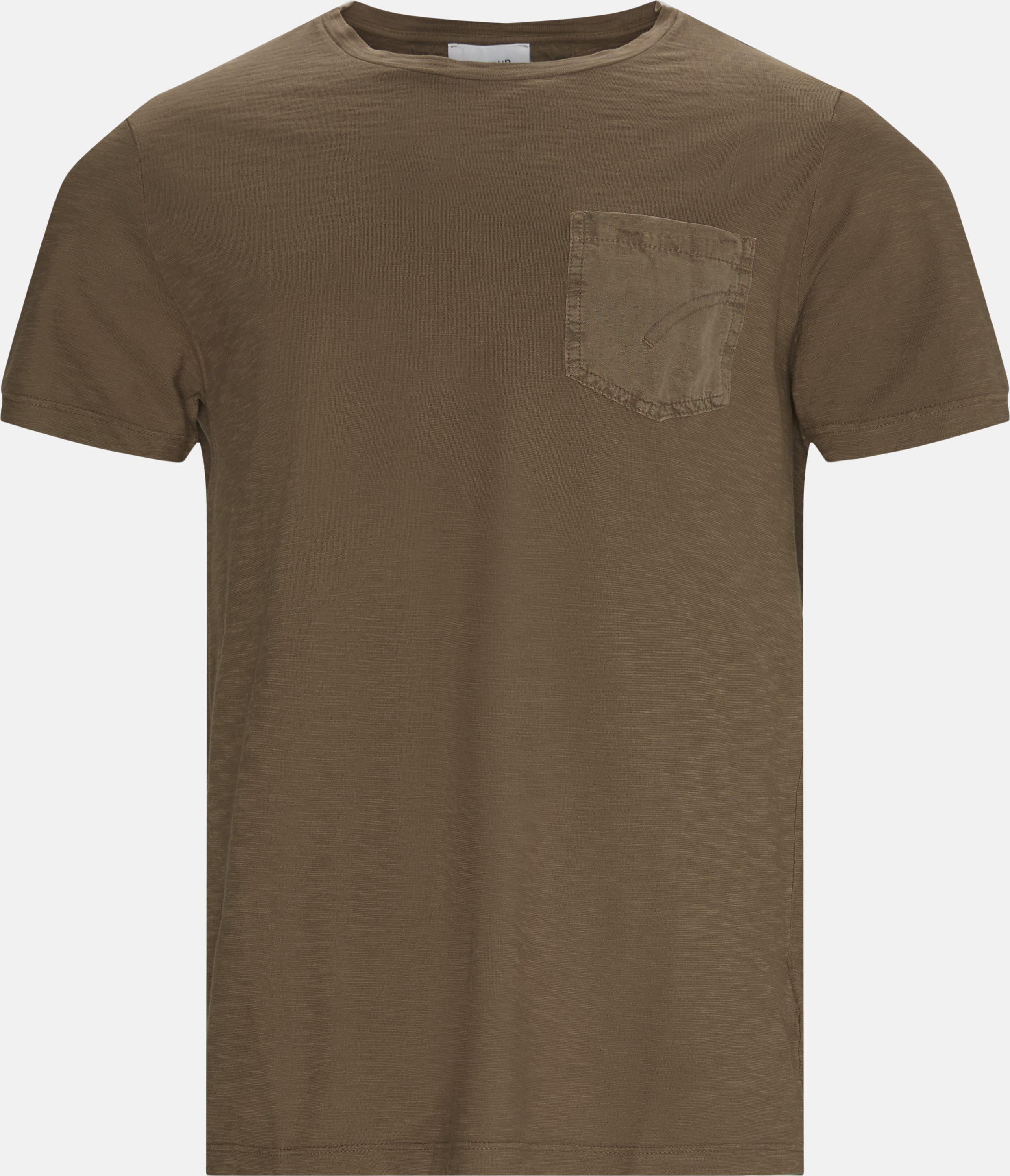 T-shirts - Regular - Brown